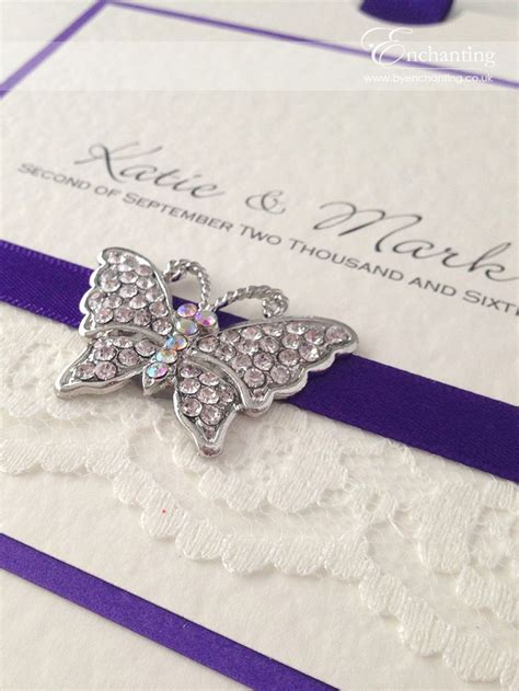 ivory and cadbury purple wedding invitations 25 best ideas about butterfly wedding invitations on