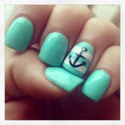 mint color nails nautical nails mint color gel nail