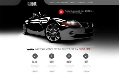 motor website car website templates points to look for