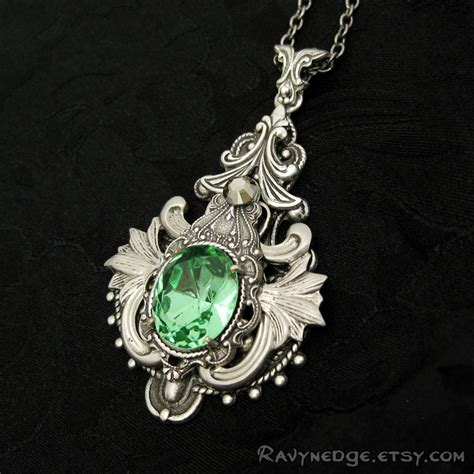 elven arcana large necklace swarovski and silver