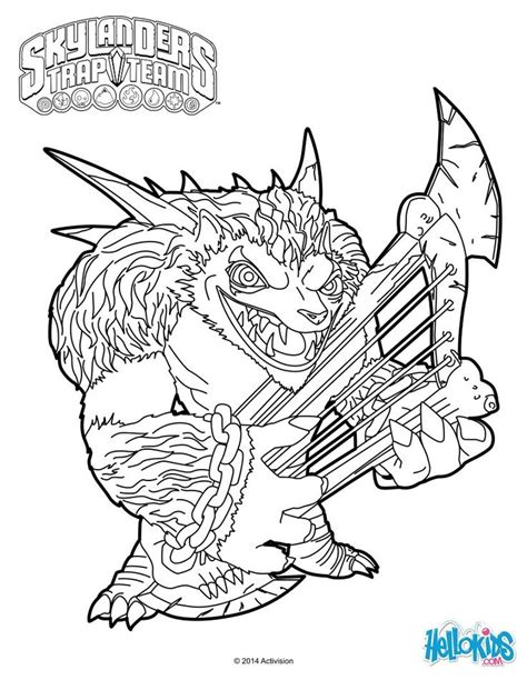 skylander birthday coloring page skylanders trap team coloring pages wolfgang