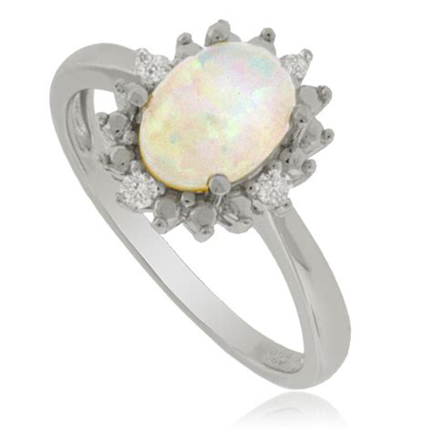 white opal and sterling silver ring silverbestbuy