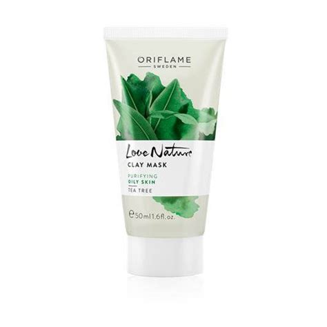 oriflame nature clay mask tea tree for skin