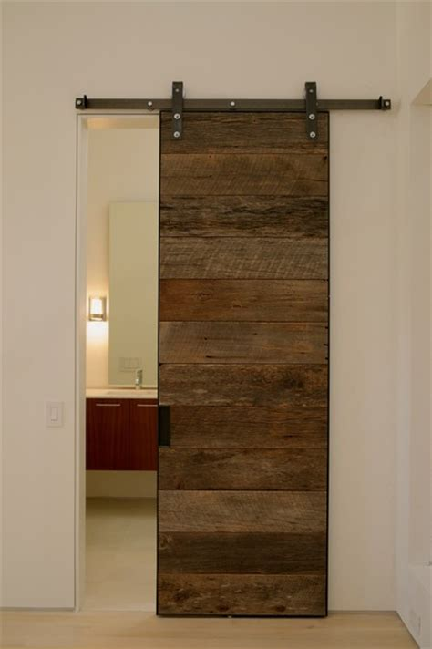 Wood Sliding Door by Reclaimed Wood Sliding Doors