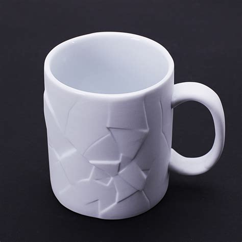 mugs design 350ml creative cracked up shattered mug coffee tea cups