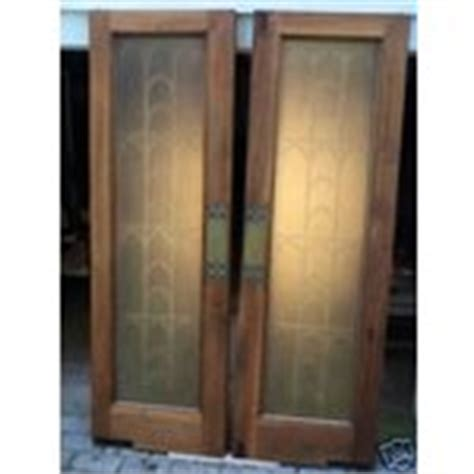 Antique Cafe Saloon Style Mahogany Doors W Glass Inset Glass Saloon Doors