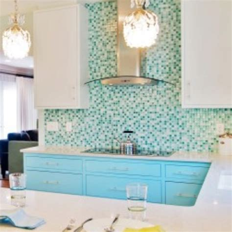 turquoise backsplash turquoise backsplash tile fab kitchens pinterest