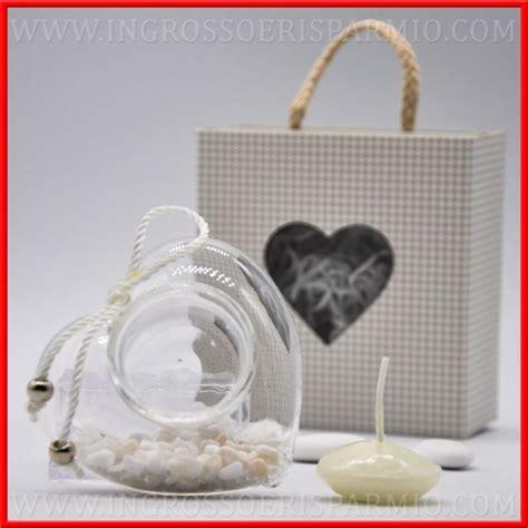 candele cuore porta candela in vetro a cuore decorato idee economiche