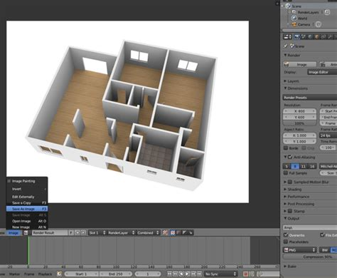 create a 3d floor plan for free free blender tutorial create a 3d floor plan from an