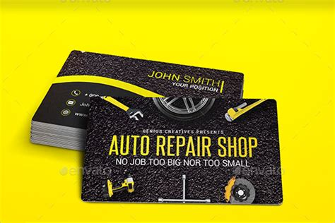 mechanic card template 28 auto repair business card templates free psd design ideas