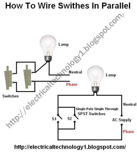 how to wire switches in parallel electrical technology