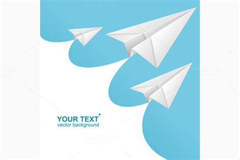 paper airplane place card template 12 paper airplane templates free sle exle