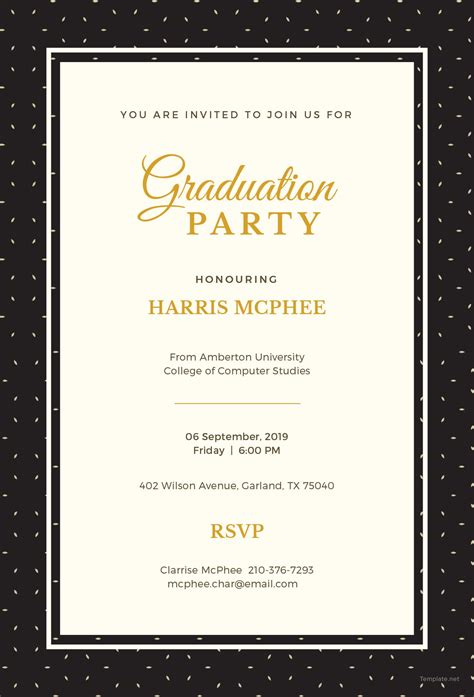 free invitation templates for apple free graduation invitation template in adobe photoshop