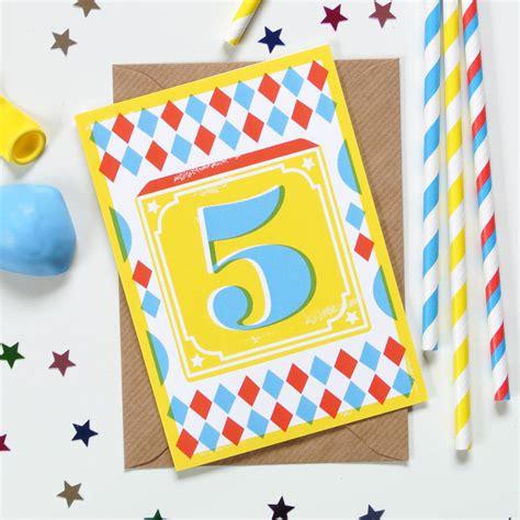 printable number birthday cards kids age number block print birthday cards by ruka ruka