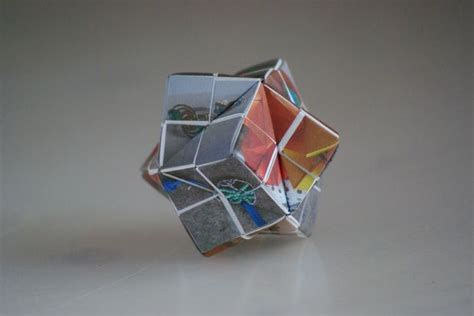 Puzzle Origami - origami picture puzzle stellated octahedron