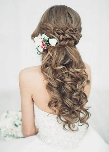 37 half up half wedding hairstyles anyone would