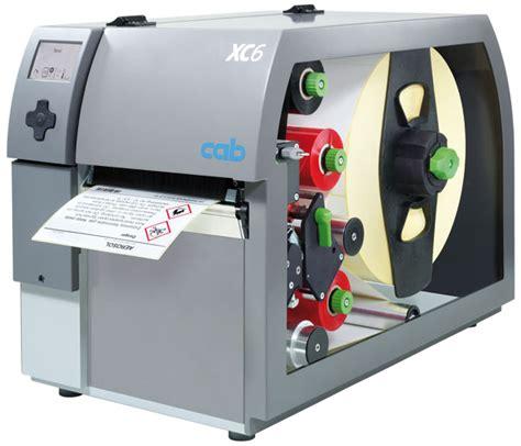 color thermal printer cab xc6 two colour label printer am labels