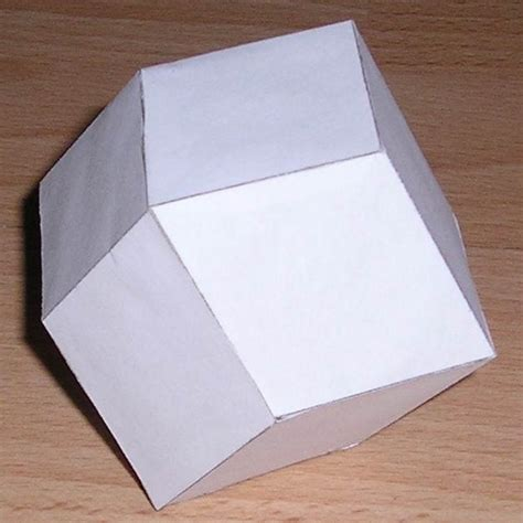 Paper Dodecahedron - paper rhombic dodecahedron