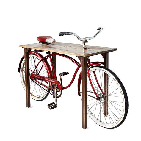 bike table bicycle home d 233 cor hardware reused in