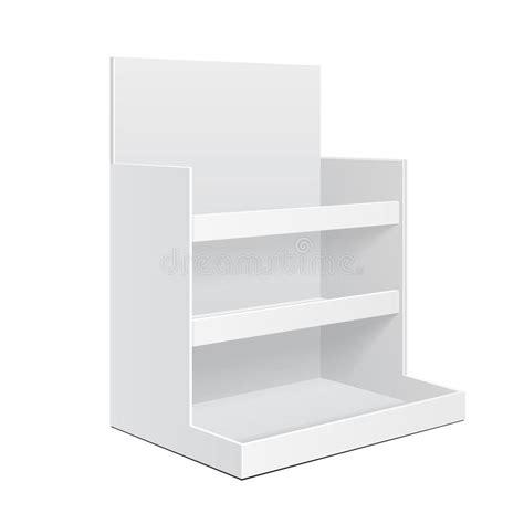 Display Cardboard Counter Shelf Holder Box Pos Poi Blank Empty Mockup Mock Up Template Cardboard Counter Display Template