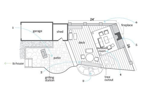 patio floor plans floor plan outdoor areas joined a guest room and more