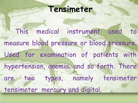 Tensimeter Stand sentences and adverb