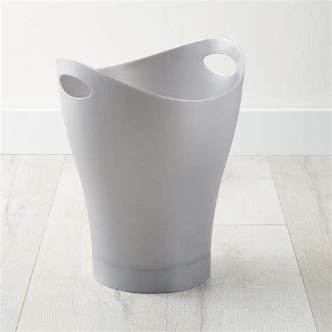 karim rashid umbra umbra silver garbino trash can by karim rashid the