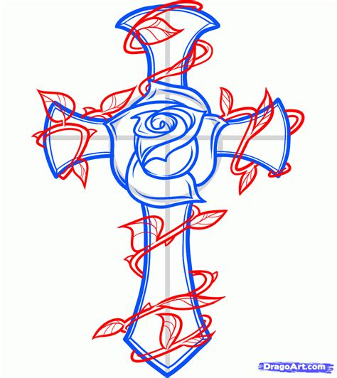 cross tattoos with flowers and vines cross with vines how to draw a and cross
