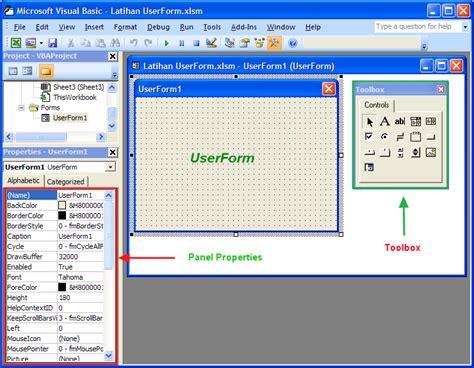cara membuat form vb di excel cara membuat userform pada excel