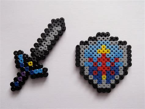 Master Sword And Hylian Shield Legend Of Perler