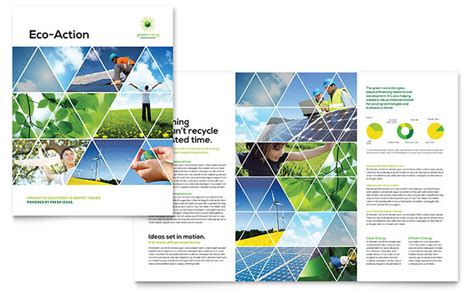 Brochure Design Templates by Green Energy Consultant Brochure Template Design