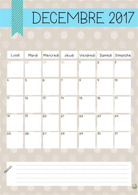 calendrier d 233 cembre 2017 224 imprimer calendriers