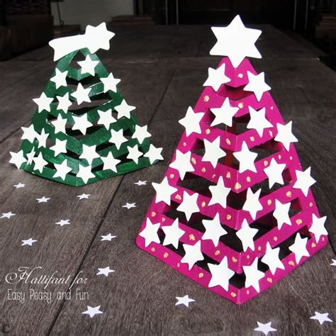 glow in the dark 3d paper christmas tree easy peasy and fun