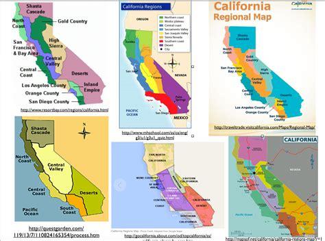 regions on a map the regionalization of california part 1 geocurrents