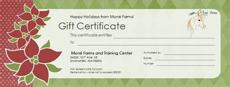 printable gift certificates with horses gift certificate template horseback riding gallery