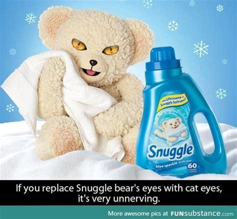 Snuggle Bear Meme - evil snuggle bear funsubstance