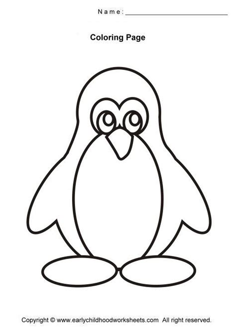 easy coloring pages for kindergarten penguin coloring pages easy and simple coloring pages