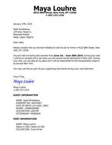 invitation letter for visitor visa friend invitation letter for us visa b2 tourist with