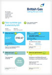 understanding your bill british gas