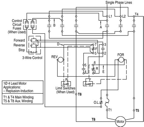 reversing contactor wiring diagram for a transformer