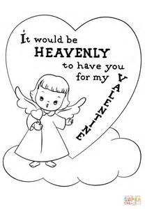 it would be heavenly to have you for my valentine coloring