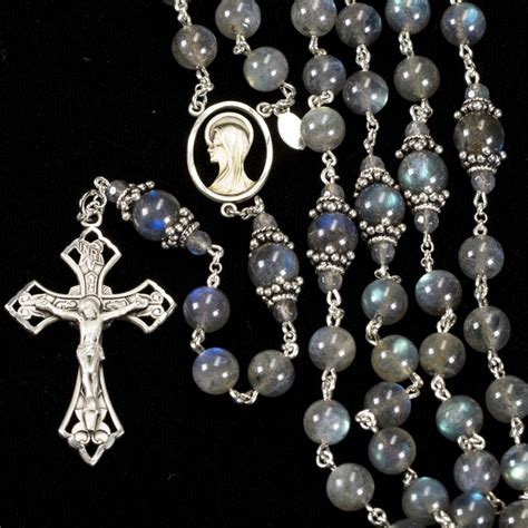 Handmade Rosaries For Sale - labradorite rosary rosaries and chaplets by sue
