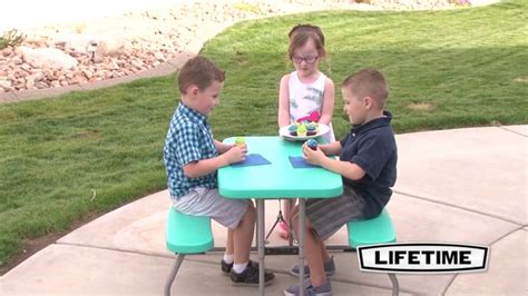 lifetime children s picnic table lifetime 60219 aqua children s picnic table