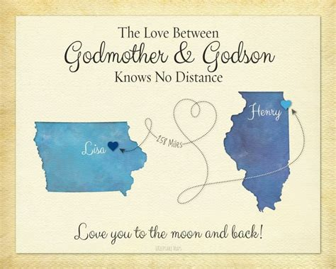 Wedding Anniversary Wishes For Godparents by Godmother Gift Godson Gift Distance Gift