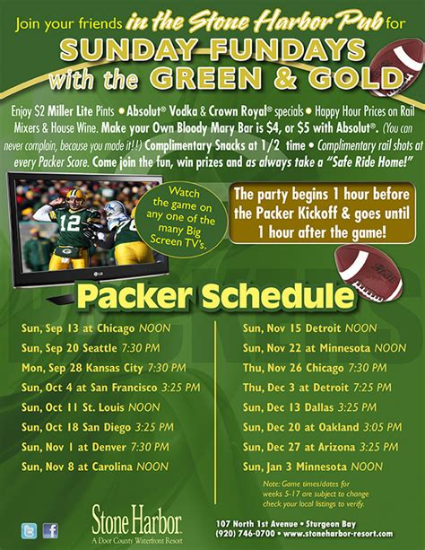 Door County Calendar Of Events by Sunday Fundays W The Green Gold At Harbor Resort Door County Lodging Resorts
