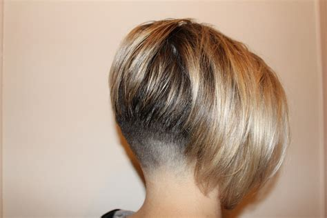 inverted bob natural hair faded nape clippered bob angled inverted blonde cute