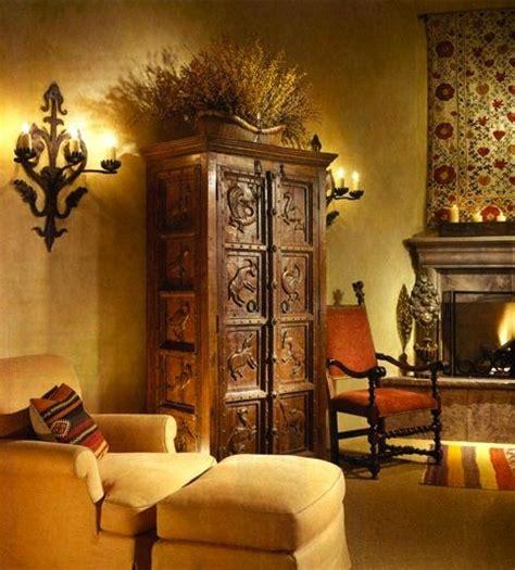 mexican rustic furniture home decor mi hacienda spanish style interior with dark wood against yellow walls