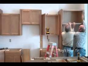 How To Instal Kitchen Cabinets Installing Kitchen Cabinets