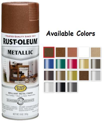 rustoleum spray paint colors rust oleum stops rust metallic spray paint packaging type