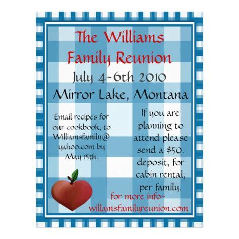 templates for family reunion flyers family reunion flier flyer design
